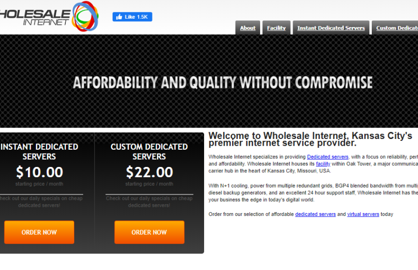 WholeSale Internet Review- The Best and Cheap Dedicated Server Hosting
