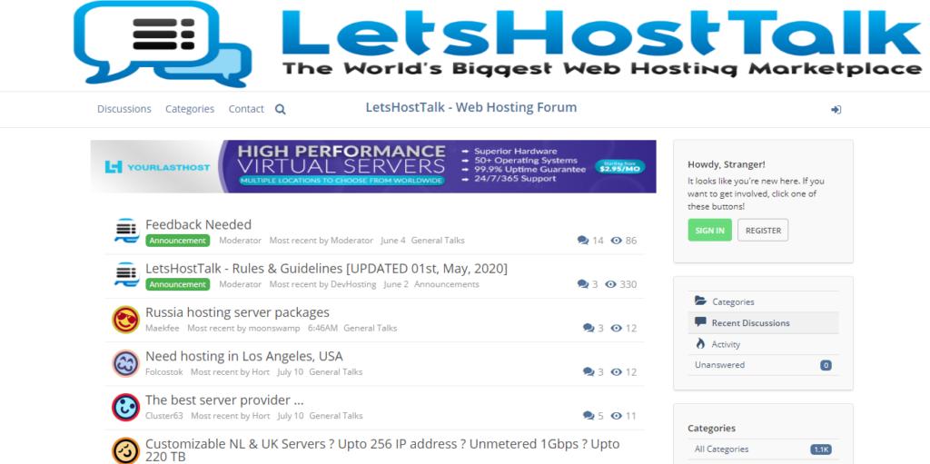 LetsHostTalk Review: A Trusted Web Hosting Forum